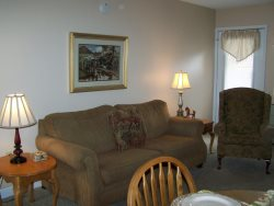 Dining Area and Gas Fireplace at Gatlinburg Condo