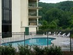 Outdoor Pool and Hot Tub at Gatlinburg Condo Complex