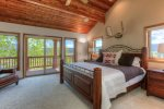 Master bedroom with private deck and stunning views