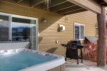Private hot tub off main living area- gas grill