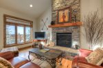 Main living space- Gas fireplace- open floor plan