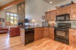 Open floor plan-gorgeous fully equipped kitchen