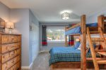 Upstairs guest room- queen bed on bottom&59&59&59; twin bed on top bunk- Ensuite
