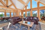 Main living space, amazing views of Big Sky Resort