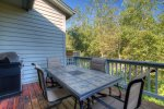 Private deck off main living space, propane grill