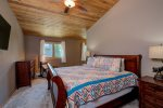 Upper level master bedroom, king bed with en suite