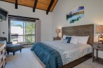 Master bedroom - King bed - En suite, private patio, AMAZING views of Lone Peak