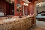 Master bathroom, dual vanity, standing shower