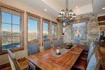 Dining area, seats for 10, breathtaking views of the Spanish Peaks