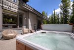 Beautiful backyard includes a private hot tub