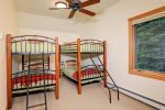 Upstairs bunk room, total of 2 bunk beds with 4 twin beds