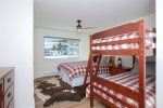 Upper level guest room. Queen bed and bunk bed. Sleeps 4. Ensuite.