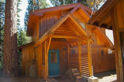 Beautiful A-frame lodge set in the forest with large deck and separate media room