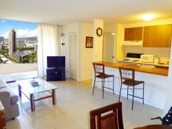 Waikiki - 1BR 1BA Beautiful high floor mountain view