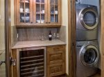 Wine Cooler Washer & Dryer Just Off The Kitchen