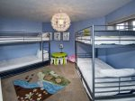 Bedroom 4 W/2 sets of twin over twin bunks