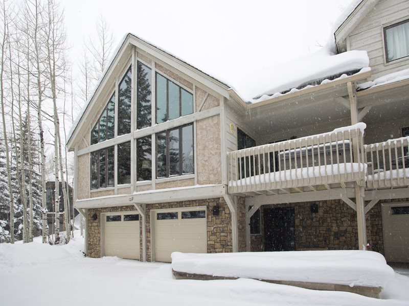 Vail Vacation Home Exterior Covered in Snow