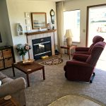 Living room - fireplace and recliners