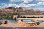 The private deck boasts gorgeous Sedona views