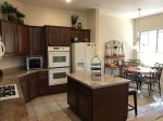The spacious kitchen is very well equipped with a Refrigerator, Gas Oven and Range, Keurig and traditional Coffee Makers, Crockpot, Microwave, Toaster, Blender, Kettle and Cookware