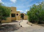 This 3,000 sq ft home sits among the mesquite trees with a panoramic view of the Mingus Mountain range