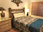 Bedroom 2 has true southwestern flair with a queen size bed
