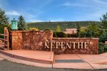 Nepenthe is a friendly and scenic complex just off mile 89A in West Sedona