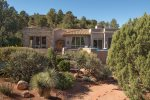 Talk about curb appeal This elegant 3BD Sedona vacation rental boasts a private pool and stunning Sedona views