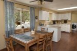 Enjoy home cooked meals in the open plan dining area
