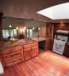 Custom cabinets and Italian quarry marble counter tops