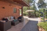 The undercover patio allows for year-round outdoor living