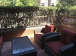 With newly upgraded patio furniture
