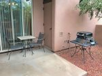Step outside to a private, pet-friendly patio with a BBQ and outdoor seating