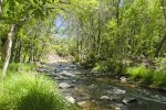 Enjoy private Oak Creek access from Cabin on the Creek, a 3BD Sedona rental in the heart of Sedona