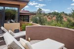 A quiet space to soak up the warm Sedona sun and gorgeous views