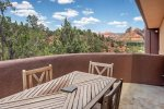 Dine alfresco under the Sedona skies ... there are views from every angle in this home