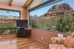 Sedona red rock views from the living area