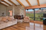 Enjoy the red rock views in the expansive great room