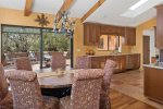 Views of the dining room and open plan kitchen