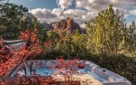 Painted Cliffs is a secluded and luxurious 4BD Sedona vacation home with a private hot tub and stunning Soldiers Pass views