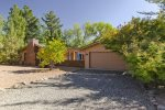 A fenced yard makes this home a great pet-friendly Sedona vacation rental