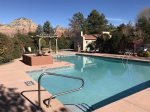 The Nepenthe Complex in Sedona boasts resort-style amenities and stunning red rock views