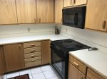 Kitchen amenities include a Refrigerator, Coffee Maker, Microwave, Cookware, Blender, Electric Oven and Range, Pots and Pans, Dishes and Silverware