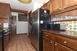 And features modern stainless steel appliances