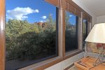 Large windows feature views of Sedonas landscapes