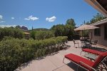 This charming custom home is in a quiet Sedona neighborhood