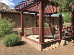 Soak up views of the Sedona peaks from the comfort of a shaded pergola