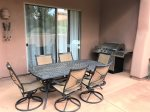 Corte Banca has a large, private patio with a BBQ grill