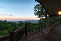 Enjoy the peace and tranquility of majestic mountain views while relaxing on the deck or hiking the nearby trails.