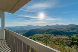 Perched 4,500 feet above sea level, you'll have a fantastic 50 mile, 180 degree view of the Blue Valley.
